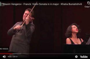 Violin Sonata (Franck) - Vengerov, Buniatishvili