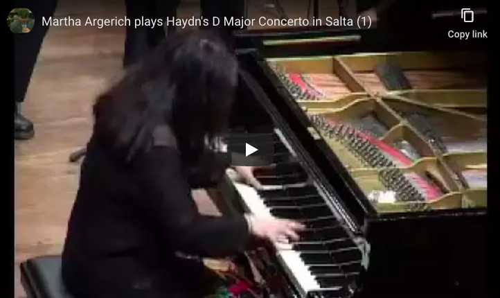 Martha Argerich performs Haydn's piano concerto No. 11 in D Major