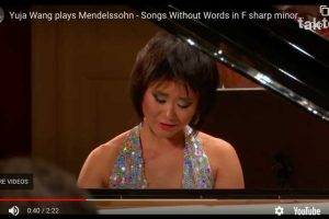 Songs Without Words Op. 67 No. 2 (Mendelssohn) – Wang, Piano