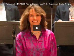 Hélène Grimaud performs Mozart's piano concerto No. 19 in F Major