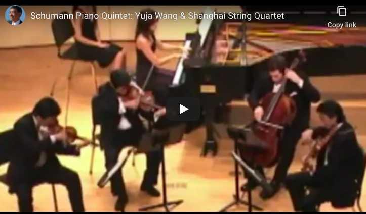 Yuja wang and the Shanghai Quartet play Schumann's Piano Quintett in E-Flat Major