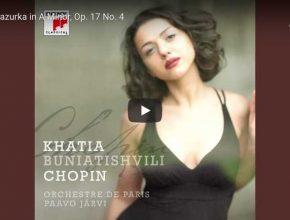 Khatia Buniatishvili perfomrs Chopin's Mazurka Op. 17 No. 4 in A Minor