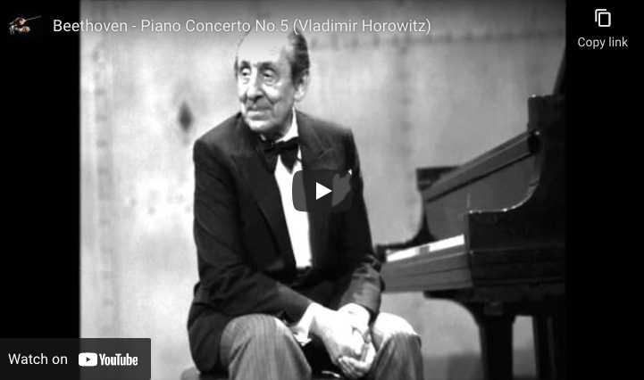 Beethoven - Emperor Concerto No. 5 - Vladimir Horowitz