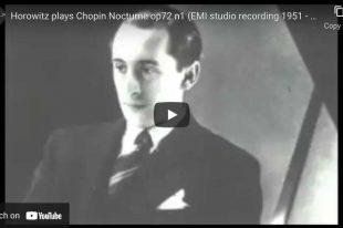 Chopin - Nocturne No. 19 - Vladimir Horowitz, Piano