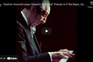 Raindrop Prelude (No. 15), Chopin - Horowitz, Piano