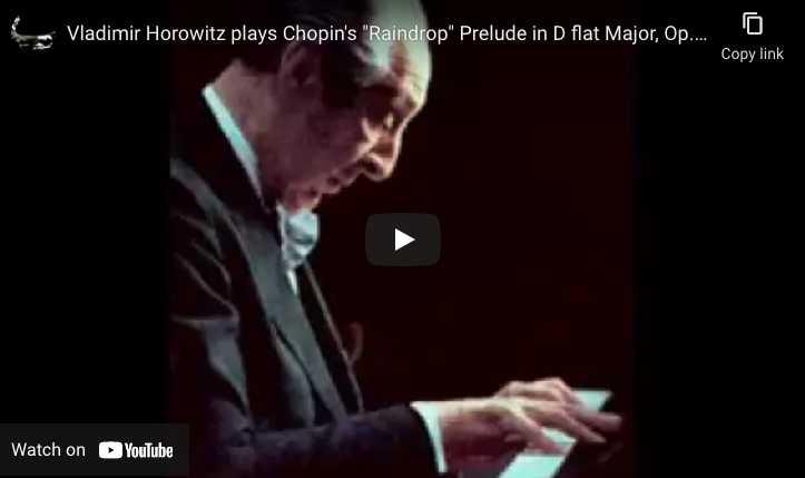 Chopin - Prelude No. 15 (Raindrop) - Horwitz, piano