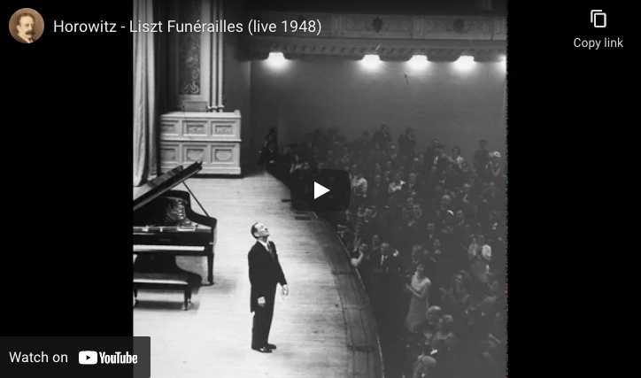 Liszt - Funerailles - Vladimir Horowitz, Piano