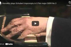 Schubert – Impromptu Op. 90 No. 3 – Horowitz, Piano