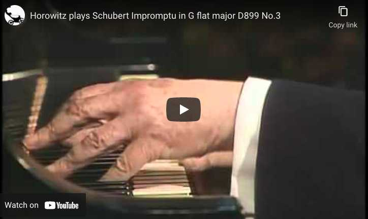 Schubert - Impromptu Op. 90 No. 3 in G-Flat Major - Horowitz, Piano