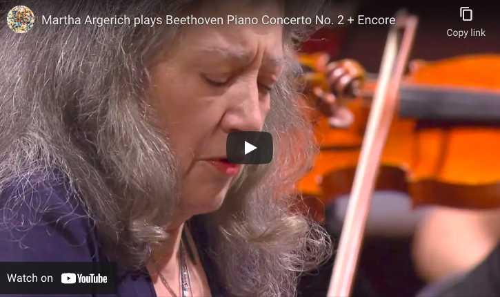 Beethoven - Concerto No. 2 - Argerich, Piano