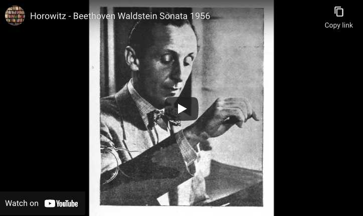 Beethoven - Waldstein Sonata -Horowitz, Piano