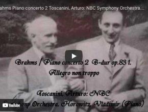 Brahms - Concerto No. 2 - Horowitz, Piano