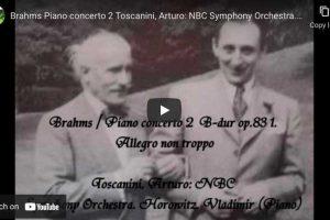 Brahms – Piano Concerto No. 2 – Horowitz, Piano