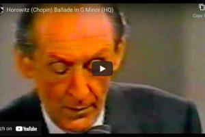 Chopin – Ballade No. 1 – Horowitz, Piano