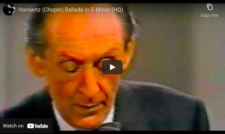 Chopin - Ballade No. 1 - Vladimir Horowitz, Piano