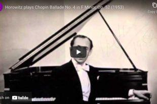 Chopin - Ballade No. 4 - Vladimir Horowitz, Piano