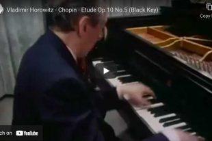 Chopin - Étude Op. 10 No. 5 (Black Key) - Horowitz, Piano