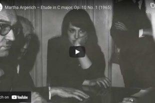 Chopin - Etude Op. 10 No. 1 - Argerich, Piano