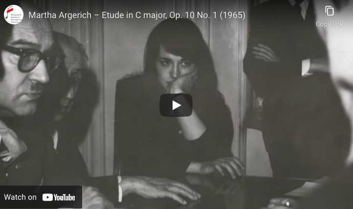 Chopin - Étude Op. 10 No. 1 - Argerich, Piano