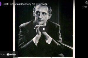 Liszt – Hungarian Rhapsody No. 6 – Horowitz, Piano