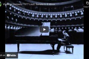 Liszt – Piano Sonata in B Minor – Vladimir Horowitz, Piano