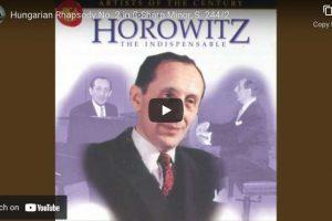Liszt – Hungarian Rhapsody No. 2 – Horowitz, Piano