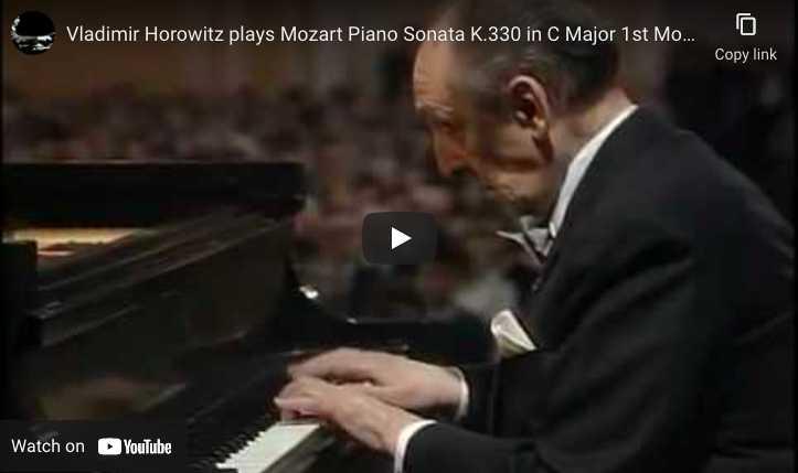 Mozart - Piano Sonata No. 10 - Horowitz, Piano