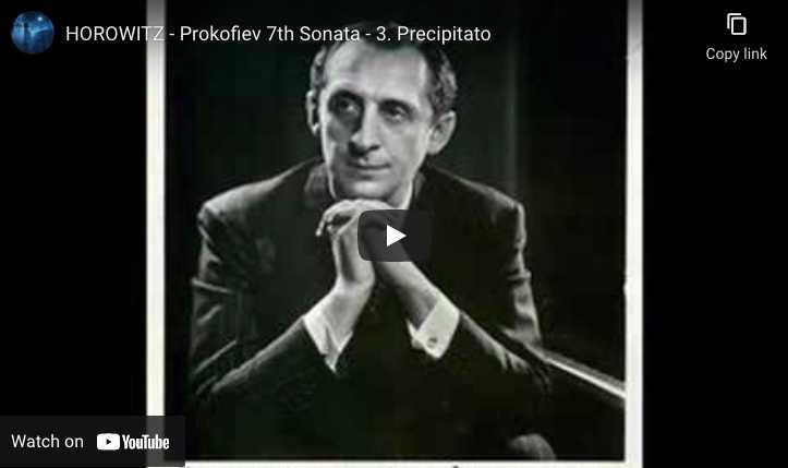Prokofiev - Sonata No. 7 - Vladimir Horowitz, Piano