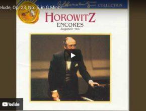 Rachmaninoff - Prelude No. 5 - Horowitz, Piano