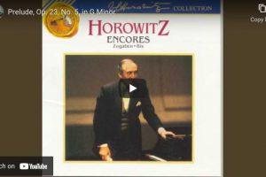 Rachmaninoff – Prelude No. 5 – Vladimir Horowitz, Piano