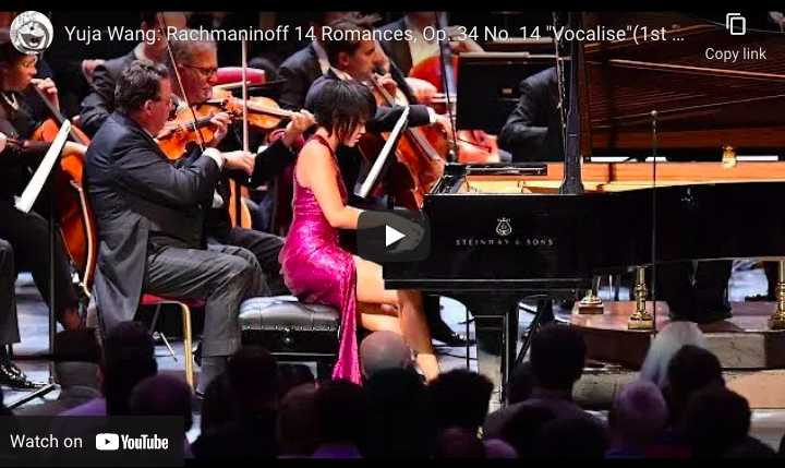 Rachmaninov - Vocalise - Yuja Wang, Piano