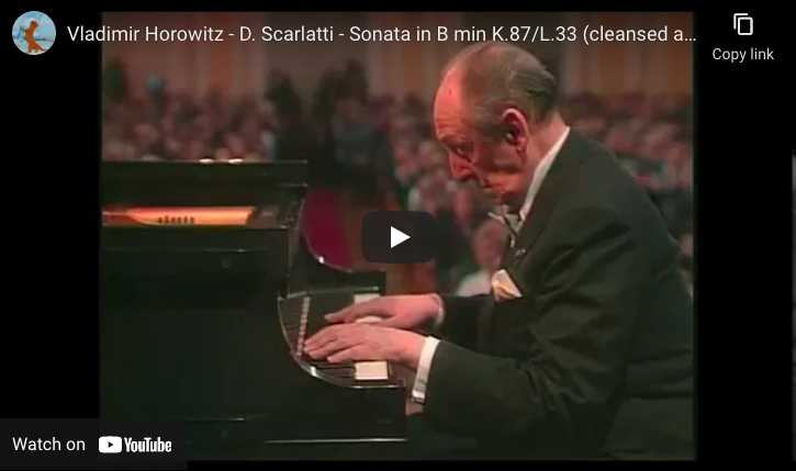 Scarlatti - Sonata K. 87 - Horowitz, Piano