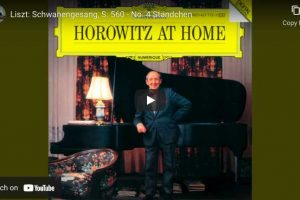 Schubert-Liszt – Ständchen (Serenade) – Horowitz, Piano
