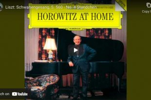 Schubert-Liszt - Ständchen (Serenade) - Horowitz, Piano