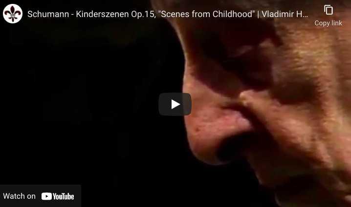 Schumann - Kinderszenen - Horowitz, Piano