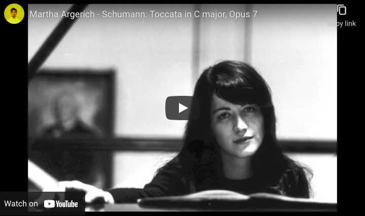 Schumann - Toccata - Martha Argerich, Piano