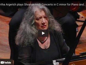 Shostakovich - Concerto No 1 for Piano and Trumpet - Argerich, Piano