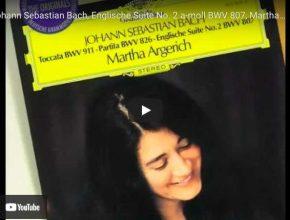 Bach - English Suite No. 2 - Argerich, Piano