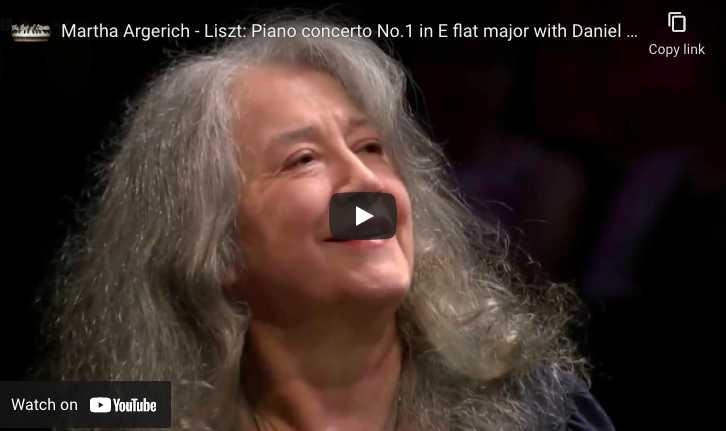 Liszt - Concerto No. 1 - Argerich, Piano