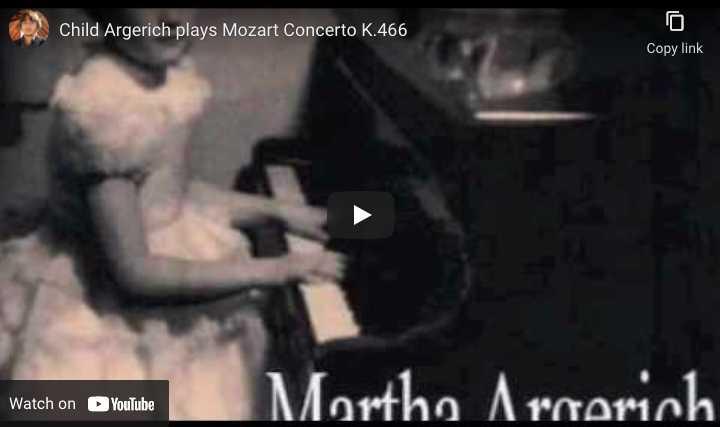 Mozart - Concerto No. 20 - Martha Argerich, Piano