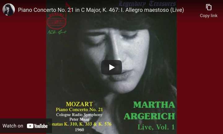 Mozart - Concerto No. 21 - Argerich, Piano
