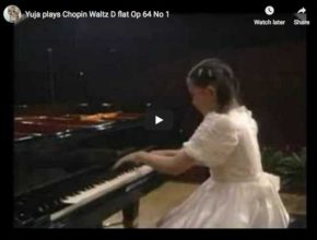 Young Chinese pianist Yuja Want is playing Chopin's most famous waltz No 6 in D flat major, often called the minute waltz