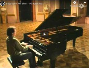 Le pianiste Ivo Pogorelich interprète La Lettre à Élise de Ludwig van Beethoven.