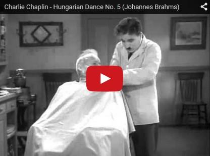 Brahms, Danse Hongroise No 5 - Le Dictateur, Charlie Chaplin