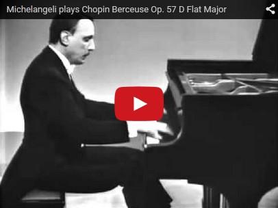 Chopin - Berceuse - Arturo Benedetti Michelangeli