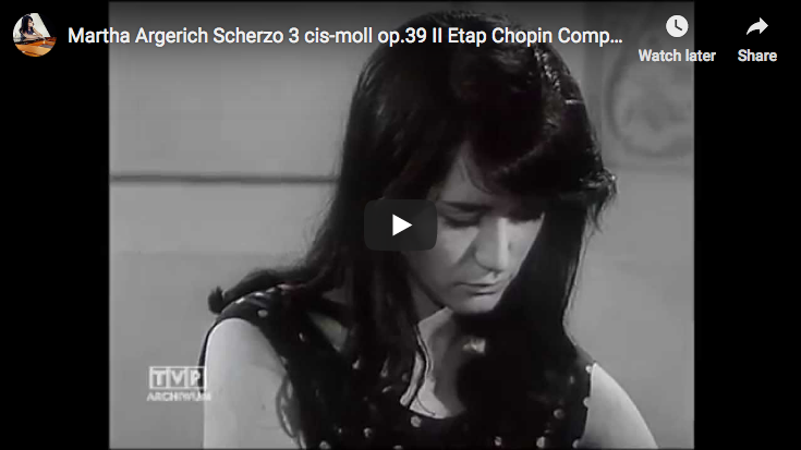 Chopin - Scherzo No. 3 en Do dièse mineur - Argerich, Piano