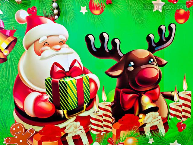 85 images de Noël en 640x480 pixels pour personnaliser le jeu vidéo Partition Clé de Sol et Clé de Fa HN