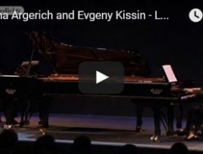 Martha Argerich and Evgeni Kissin play Lutoslawski's Paganini Variations for two pianos