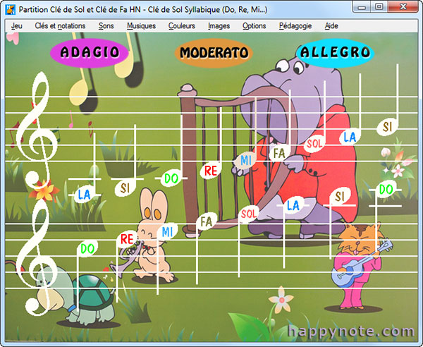 Un vrai jeu vidéo pour réellement apprendre à lire les notes de musique d'une partition en Clé de Sol et Clé de Fa