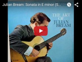 Julian Bream playing guitar
